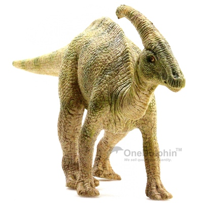 OneDolphin Parasaurolophus Toy Figure Jurassic Dinosaur Toys as Kids Party Supplies Cake Topper 8-inch Gift for Collection