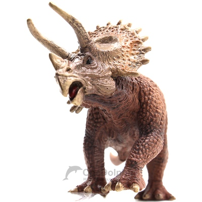 OneDolphin Triceratops Toy Figures Jurassic Dinosaur Toys as Kids Party Supplies 8-inch Gift for Collection