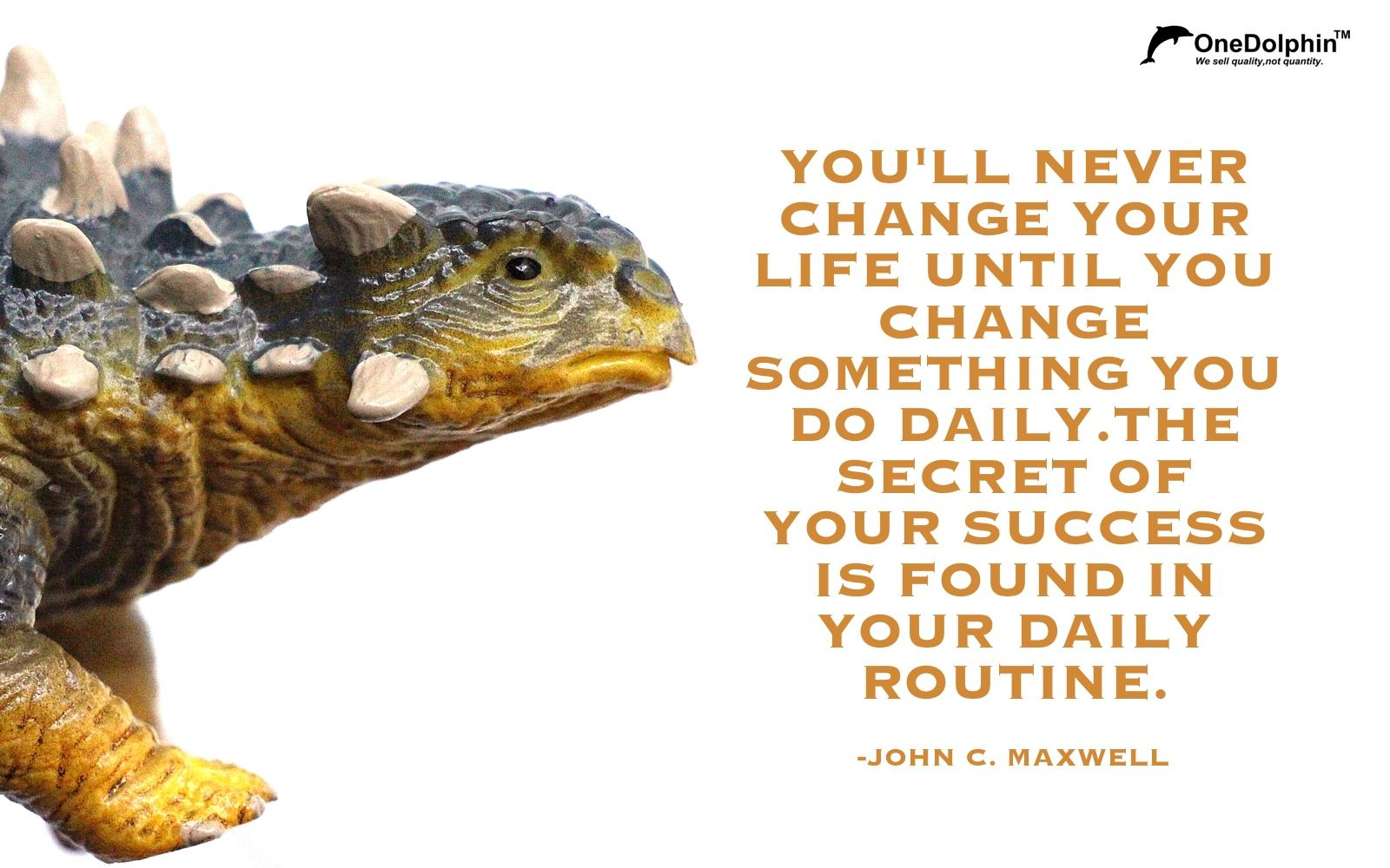 Ankylosaurus: you'll never change your life until you change something you do daily.