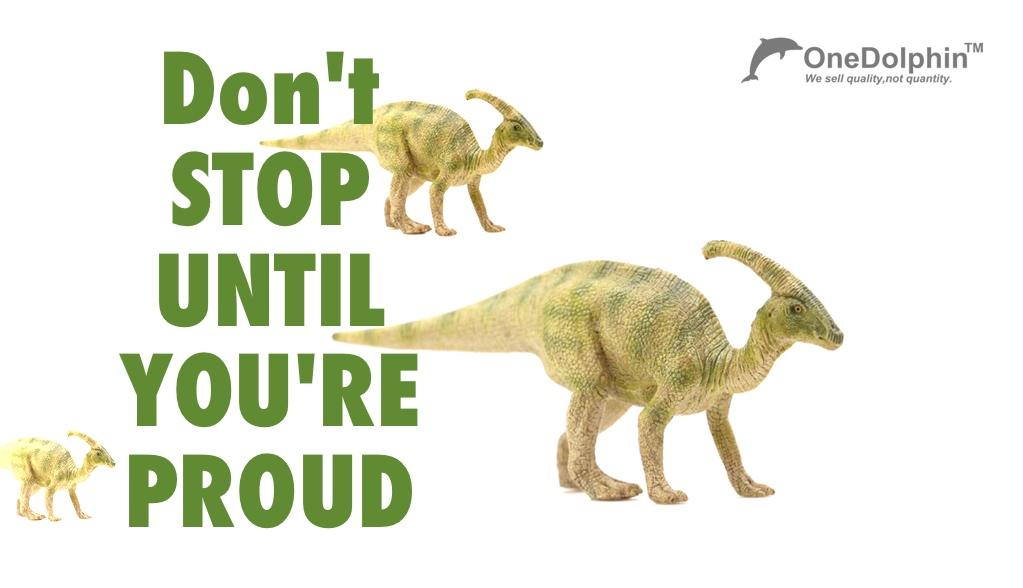 Parasaurolophus: don't stop until you are proud