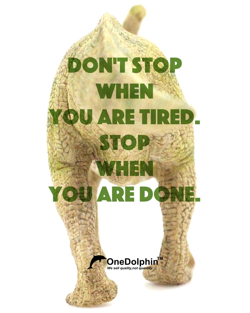 Parasaurolophus: Don't stop when you are tired. Stop when you are done.