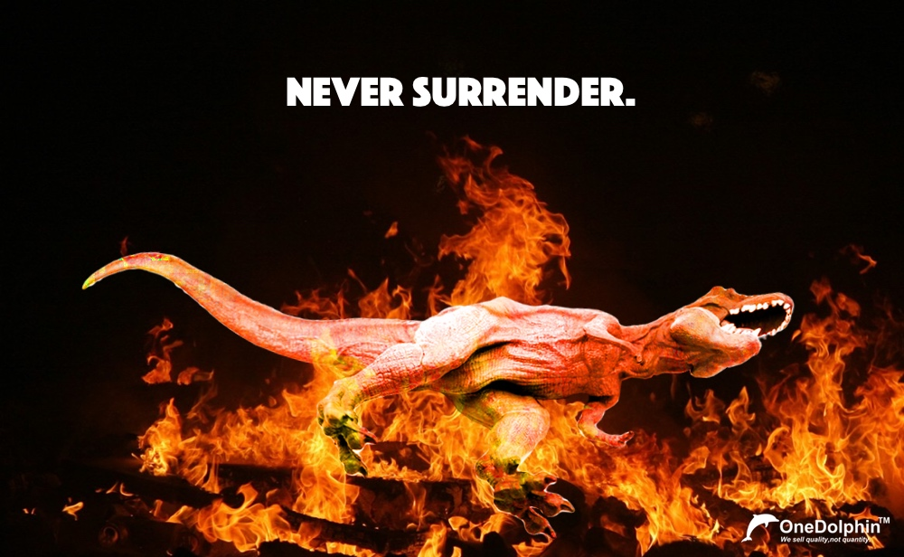 Tyrannosaurus Rex-Death is not the greatest loss in life. the greatest loss is what dies inside while still alive.