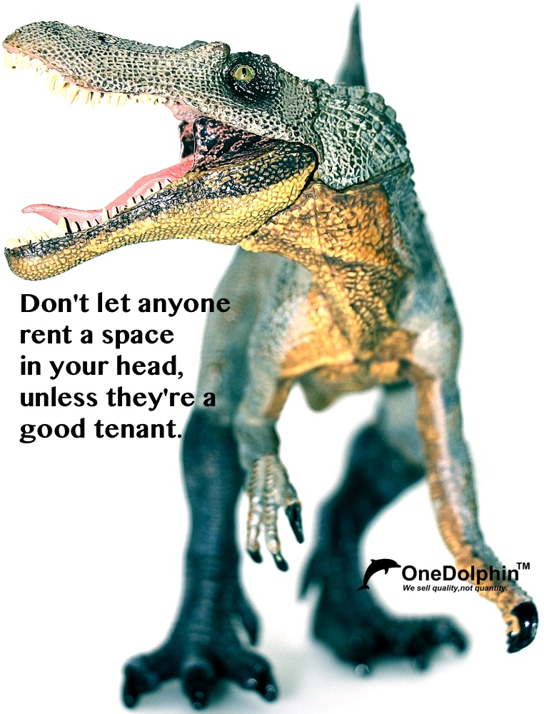 Spinosaurus: don't let anyone rent a space in your head