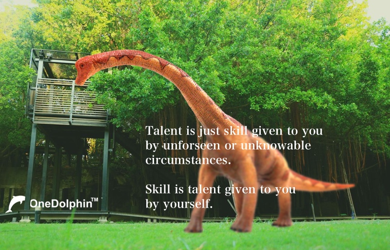 Brachiosaurus: Skill is talent given to you  by yourself.