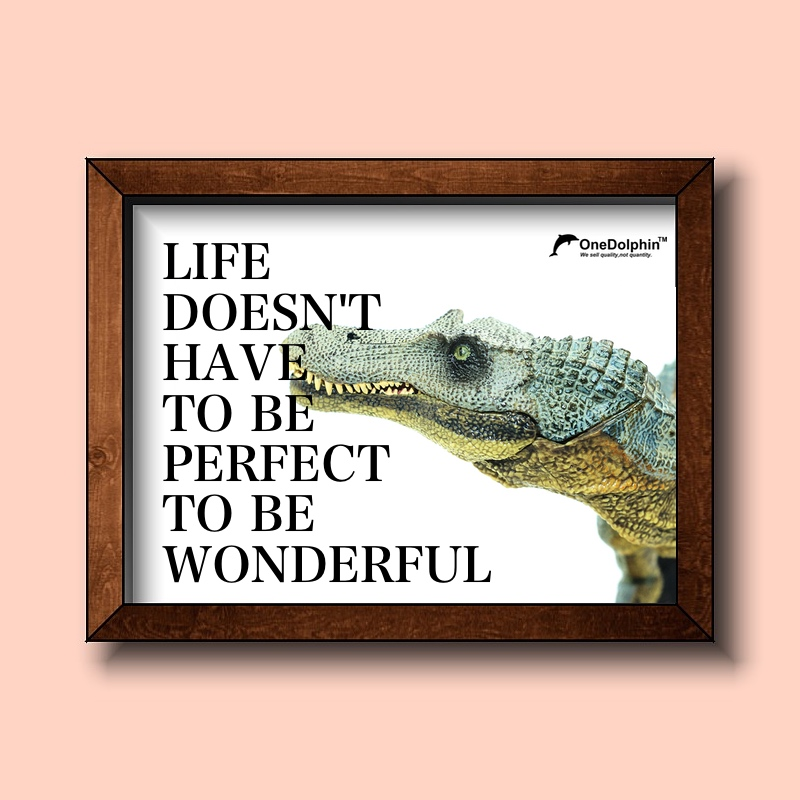 Spinosaurus: LIFE DOESN'T HAVE TO BE PERFECT TO BE WONDERFUL