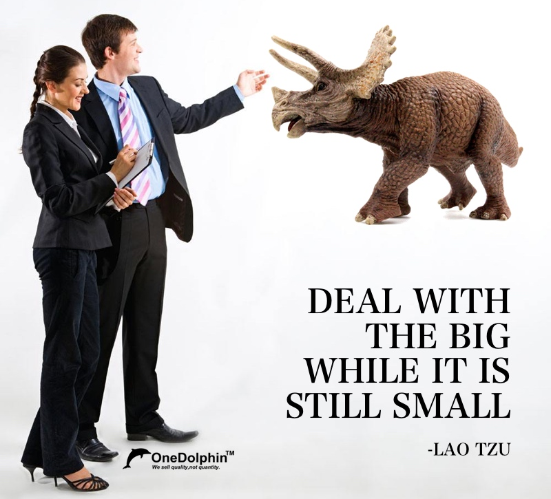 Triceratops: DEAL WITH THE BIG WHILE IT IS STILL SMALL