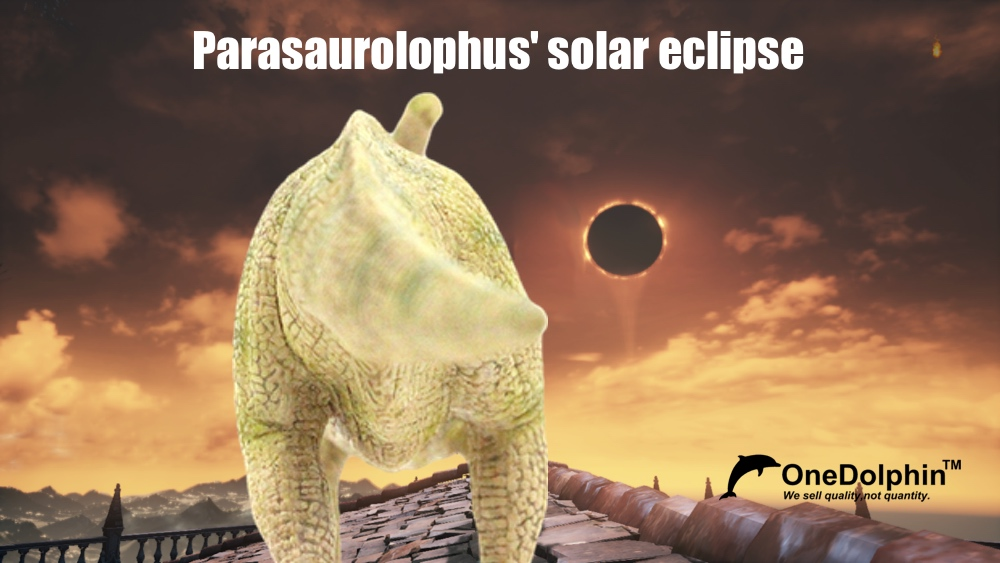 Parasaurolophus: early sighting of the solar eclipse