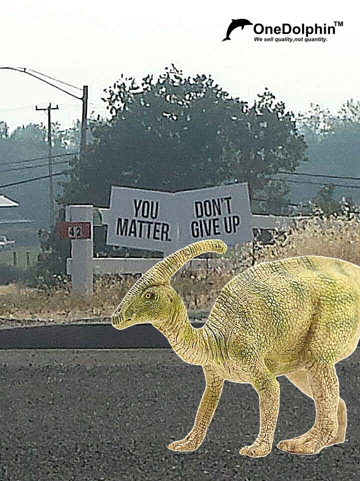 Parasaurolophus: you matter and don't give up.