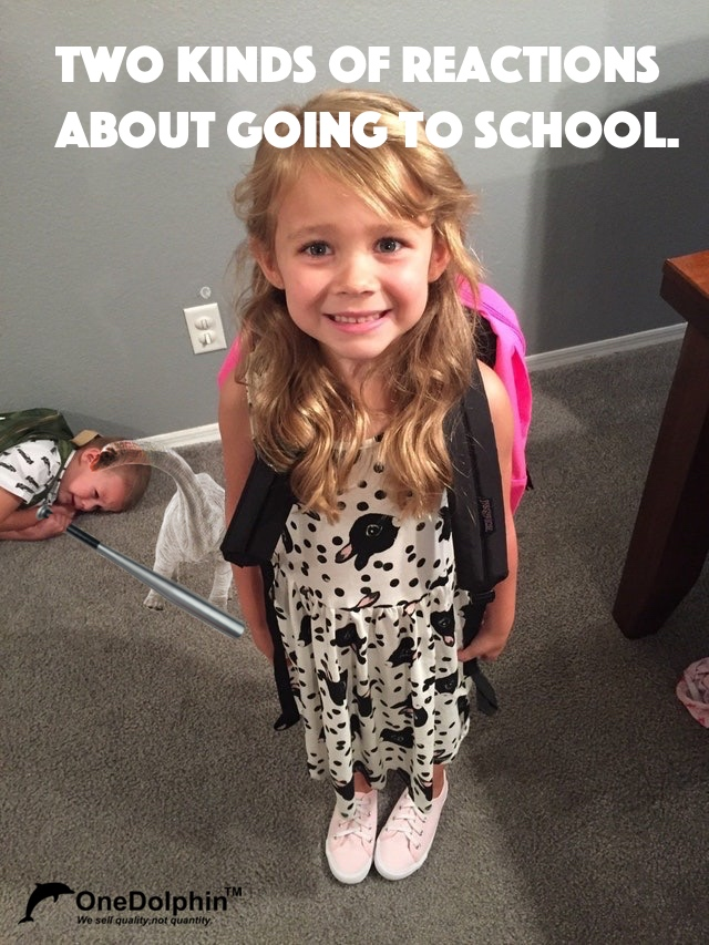 Apatosaurus: two kinds of reactions about going to school.