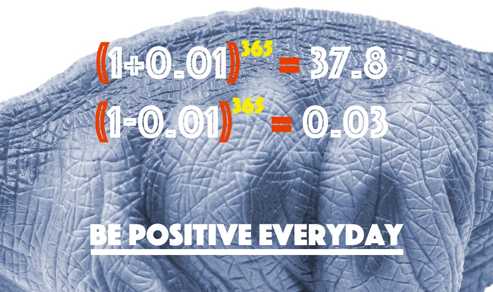 Apatosaurus: BE POSITIVE EVERYDAY