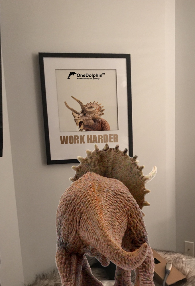 Triceratops: I always tell myself to work harder every morning.