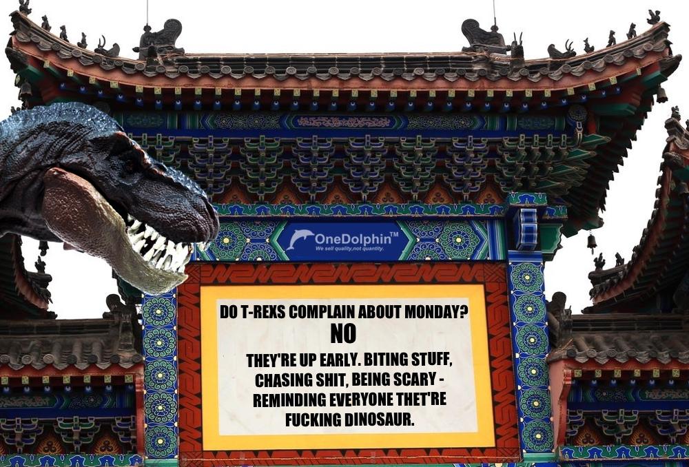 Tyrannosaurus Rex: DO T-REXS COMPLAIN ABOUT MONDAY?