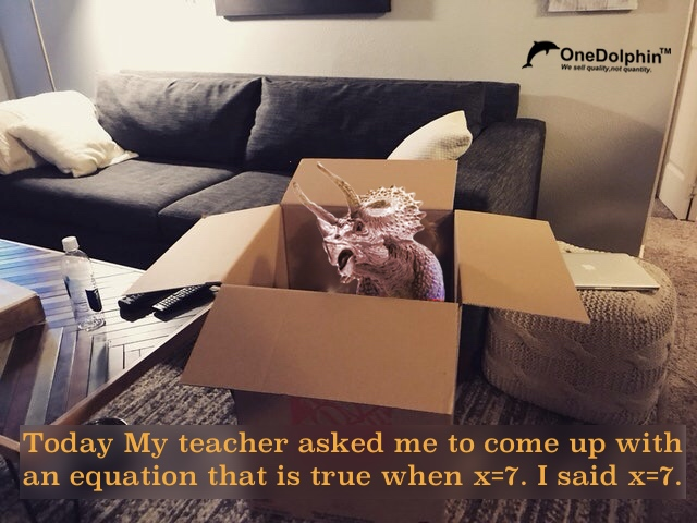 Triceratops: Today My teacher asked me to come up with an equation that is true when x=7
