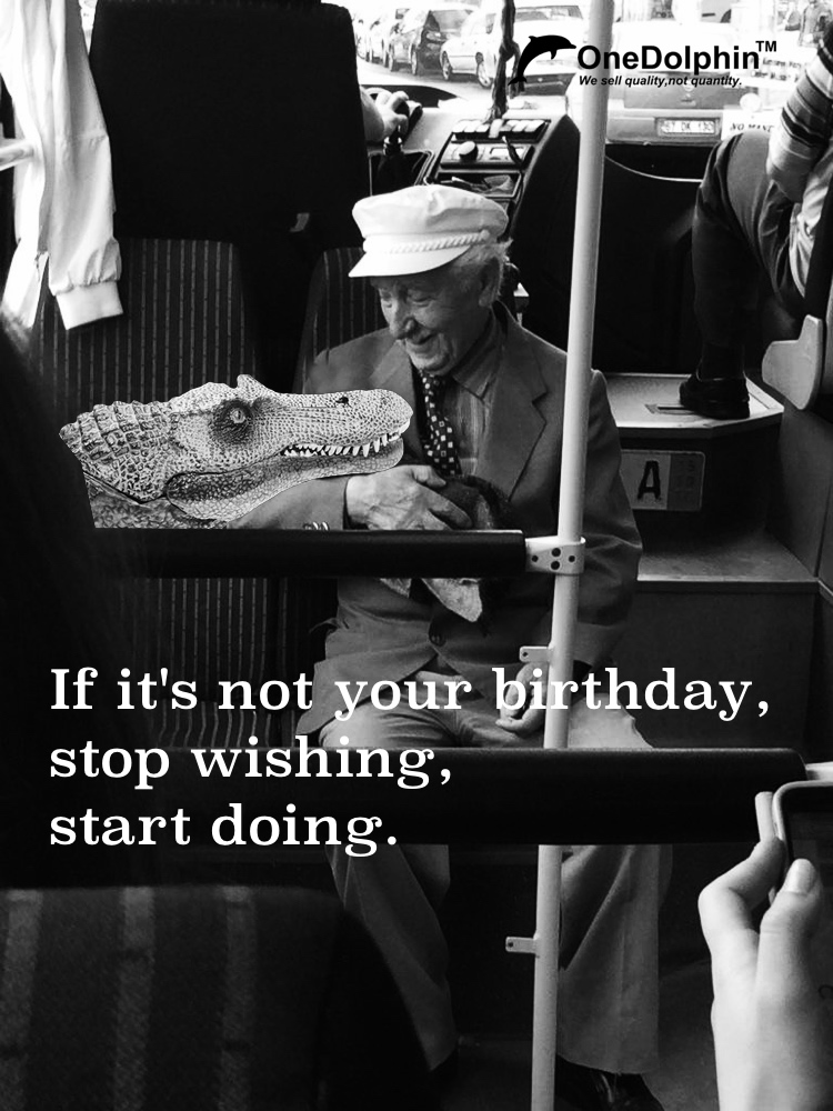 Spinosaurus: If it's not your birthday, stop wishing, start doing.