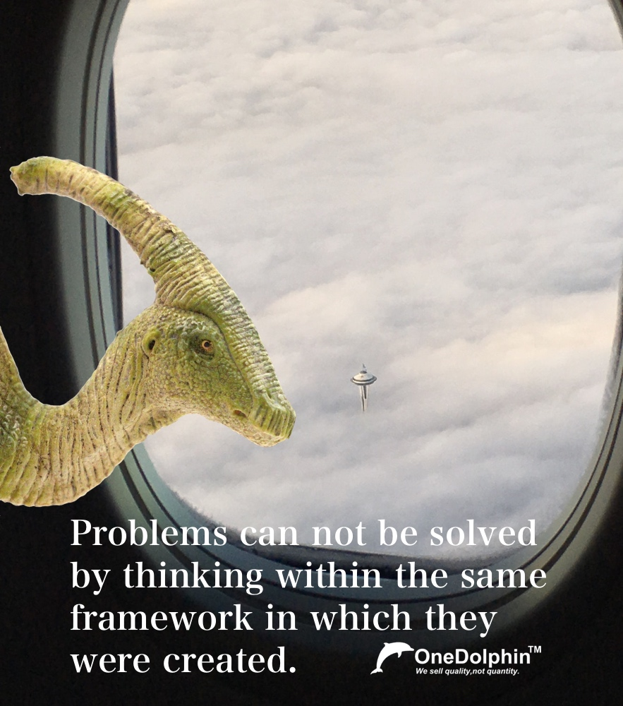 Parasaurolophus: problems can not be solved by thinking within the same framework in which they were created.