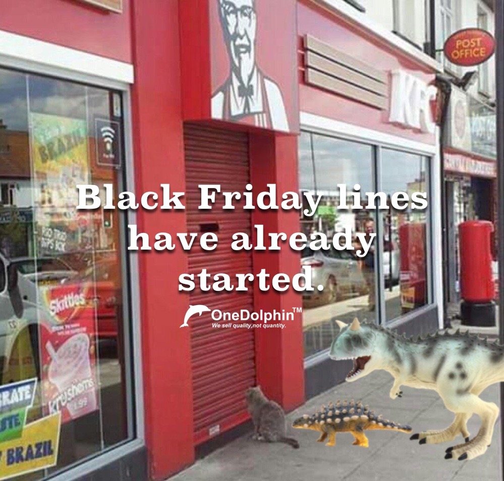 Carnotaurus: Black Friday lines have already started.