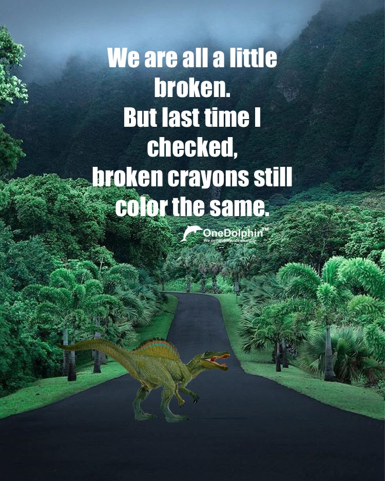 Spinosaurus: broken crayons still color the same