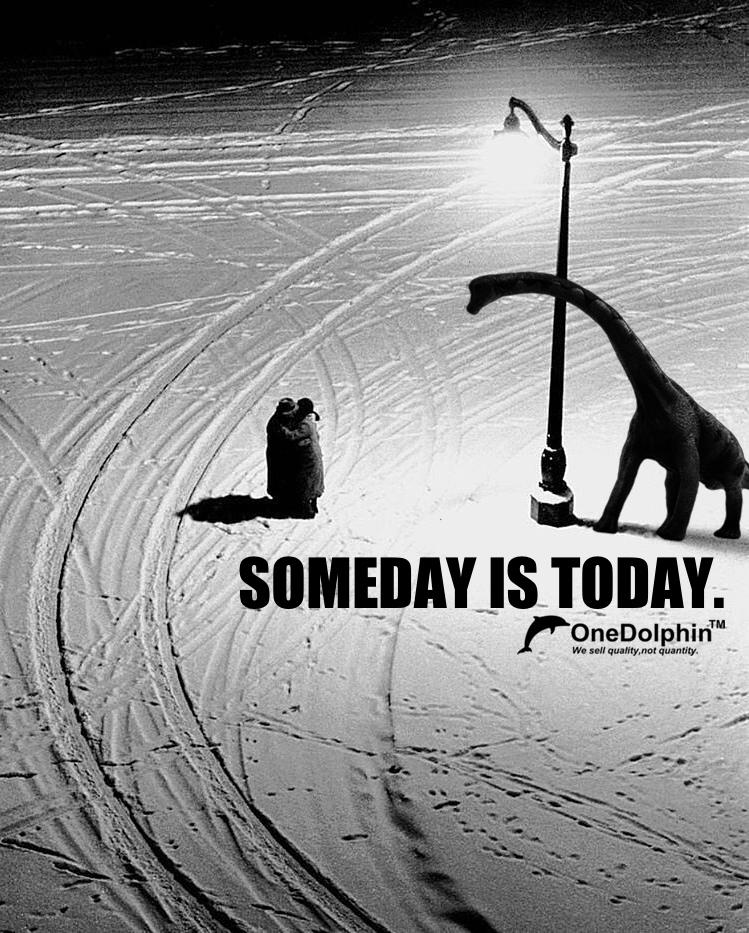 Brachiosaurus: SOMEDAY IS TODAY.