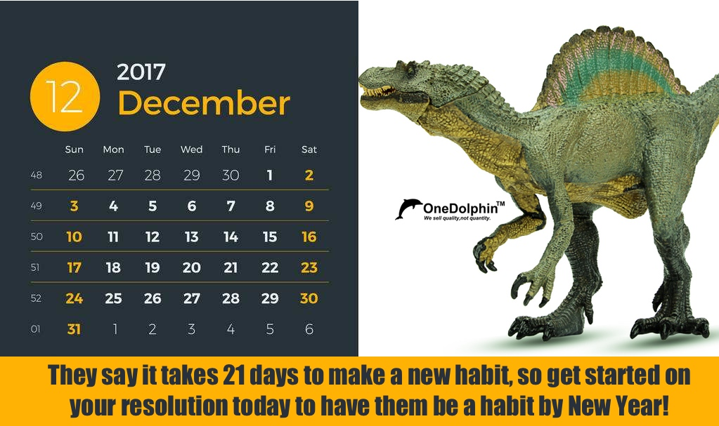 Spinosaurus: They say it takes 21 days to make a new habit...