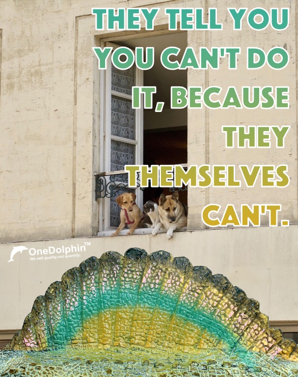 Spinosaurus: They tell you you can't do it, because they themselves can't.