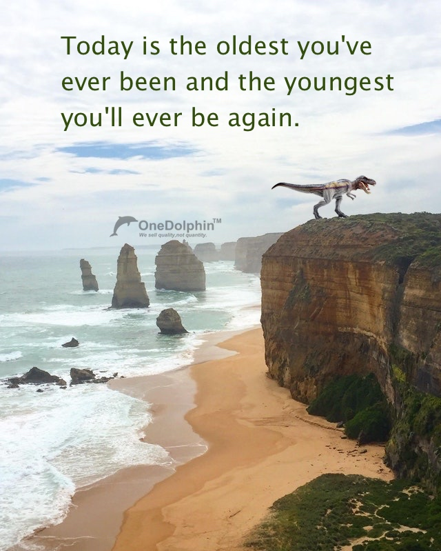 T-rex: Today is the oldest you've ever been and the youngest you'll ever be again.