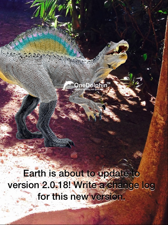 Spinosaurus: Earth is about to update to version 2.0.18!