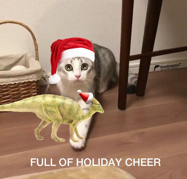 Parasaurolophus: FULL OF HOLIDAY CHEER
