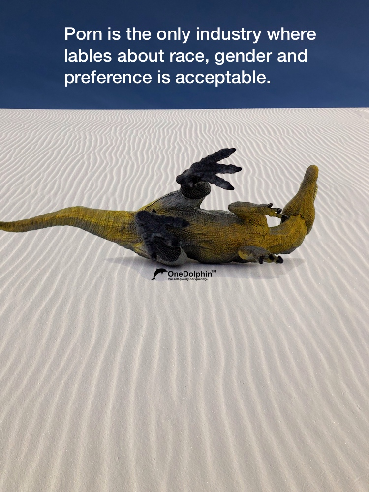 Spinosaurus: the only industry where lables about race, gender and preference is acceptable.