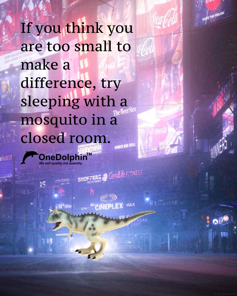 Carnotaurus: If you think you are too small to make a difference
