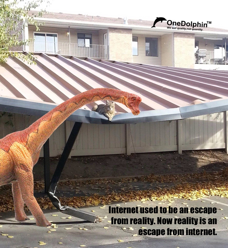 Brachiosaurus: internet used to be an escape from reality