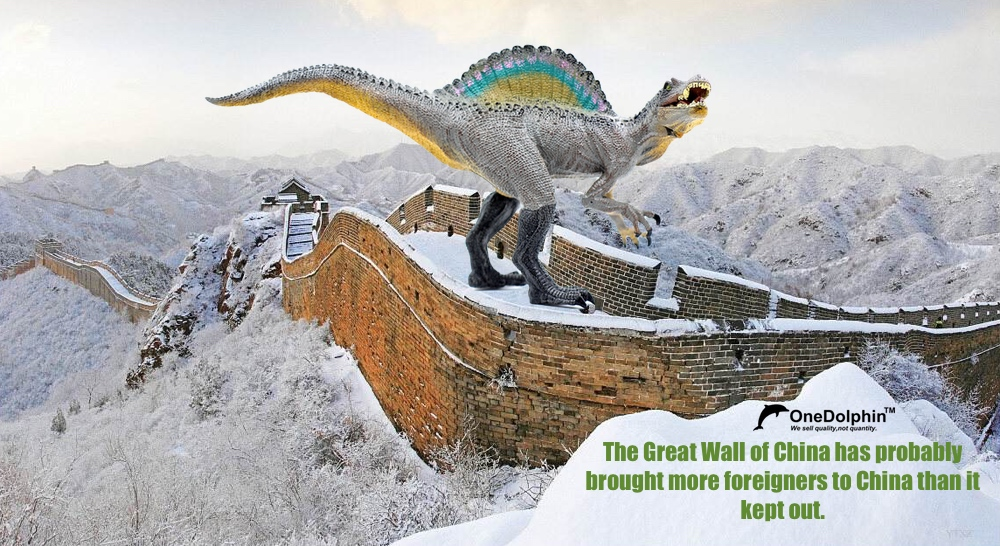Spinosaurus: The Great Wall of China has probably brought more foreigners...